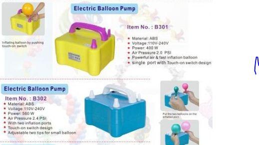 Bán các loại bơm bóng bay bằng điện